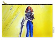Girl With Sword. Astral Traveler Carry-all Pouch