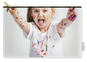 Girl With Victory Sign Sticking Out Her Tounge Carry-all Pouch