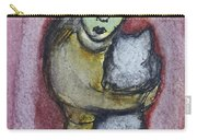 Girl With White Cat Carry-all Pouch