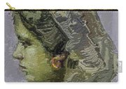 Girl With Yellow Earring Gwye2 Carry-all Pouch by Pemaro