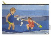 Girls On Beach Carry-all Pouch