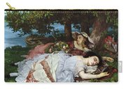 Girls On The Banks Of The Seine Carry-all Pouch by Gustave Courbet