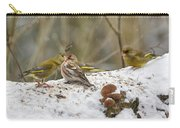 Give Me A Kiss. Redpolls And Greenfinches Carry-all Pouch