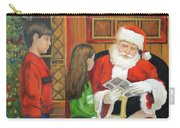Giving The List To Santa Carry-all Pouch