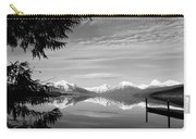 Glacier In Black And White Carry-all Pouch
