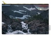 Glacier Morning Waterfall And Moonset Carry-all Pouch