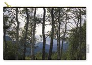 Glacier National Park Green Trees Mountains Carry-all Pouch