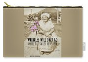 Gladiolus Quote Carry-all Pouch