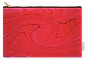 Glass And Steel Building Red Abstract Carry-all Pouch