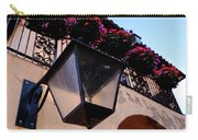 Glass Light Housing With Red Flower Architecture In Saint August Carry-all Pouch