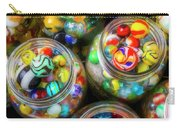 Glass Marbles In Containers Carry-all Pouch