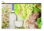 White Wine In Vineyard Carry-all Pouch