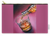Glass Of Wine Original Oil Painting Carry-all Pouch