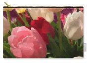 Glazed Tulip Bouquet Carry-all Pouch