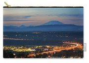 Glenn L Jackson Bridge And Mount Saint Helens After Sunset Carry-all Pouch