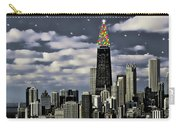 Glittering Chicago Christmas Tree Carry-all Pouch
