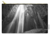 Gljufrabui Iceland Waterfall Bw Carry-all Pouch