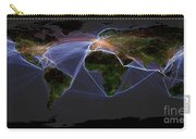 Global Transportation Map Carry-all Pouch by Felix PD and Globaia