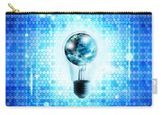 Globe And Light Bulb With Technology Background Carry-all Pouch by Setsiri Silapasuwanchai
