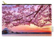 Glorious Sunset Over Cherry Tree At The Jefferson Memorial  Carry-all Pouch