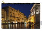 Glossy Outdoor Living Room - Passeggiata On Piazza Duomo In Syracuse Sicily Carry-all Pouch