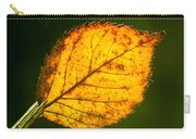 Glowing Autumn Leaf Carry-all Pouch