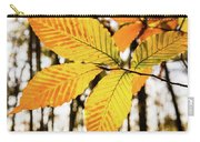 Glowing Beech Leaf Branch Carry-all Pouch