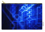 Glowing Blue Flowchart Carry-all Pouch