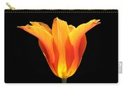 Glowing Orange Tulip Flower Carry-all Pouch