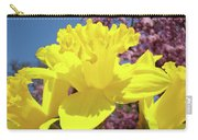 Glowing Yellow Daffodils Art Prints Pink Blossoms Spring Baslee Troutman Carry-all Pouch