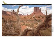 Gnarled Tree At Monument Valley  Carry-all Pouch