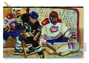 Goalie  And Hockey Art Carry-all Pouch
