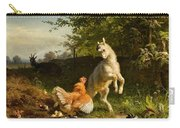 Goat Kid And A Hen Carry-all Pouch