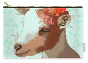 Goat With Flower Carry-all Pouch