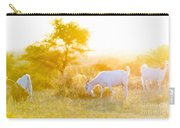 Goats Grazing At Sunset Carry-all Pouch