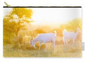 Goats Grazing In Field Carry-all Pouch