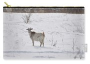 Goats In Snow Carry-all Pouch