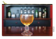 Goblet Of Refreshing Golden Beer On Shiny Dining Table Carry-all Pouch