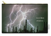 God Bless America Color Lightning Storm In The Usa Desert Carry-all Pouch
