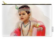 God Krishna Style Watercolor Carry-all Pouch