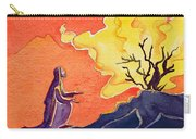 God Speaks To Moses From The Burning Bush Carry-all Pouch by Elizabeth Wang