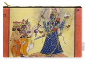 Goddess Bhadrakali Worshipped By The Gods. From A Tantric Devi Series Carry-all Pouch