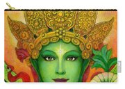 Goddess Green Tara's Face Carry-all Pouch