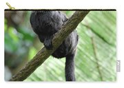 Goeldi Marmoset Perched On A Vine Carry-all Pouch