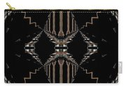 Gold And Black With Silver Design Abstract Carry-all Pouch