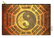 Gold And Copper : Gold and copper yin yang sign in octagon with stonel background