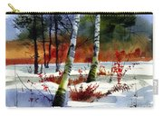 Gold Bushes Watercolor Carry-all Pouch