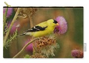 Goldfinch On Thistle Carry-all Pouch