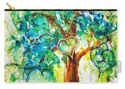 Gold Heart Valentine Tree Watercolor N Ink Carry-all Pouch