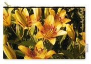 Gold Lilly Carry-all Pouch
